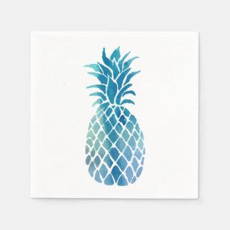 blue pineapple disposable serviettes