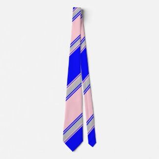 Blue Pink and Silver Alternating Striped II Tie