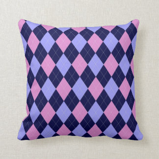 Blue & Pink Argyle Pillow