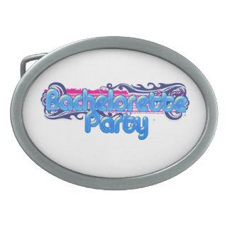blue pink bachelorette wedding bridal shower party belt buckle