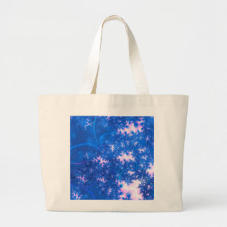 Blue Pink Delicate Cosmic Growth, Osmosis Abstract Canvas Bags