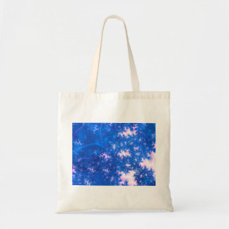 Blue Pink Delicate Cosmic Growth, Osmosis Abstract Budget Tote Bag