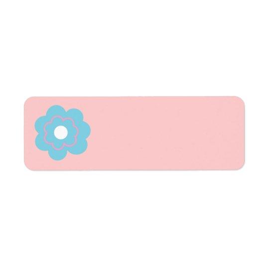 Blue Pink Flower