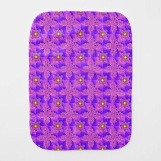 Blue Pink Flowers in 3D , Artdeco Burp Cloth