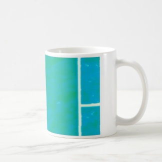 blue& pink basic white mug