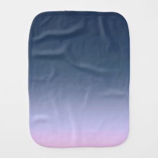 Blue-pink Ombre . Burp Cloth