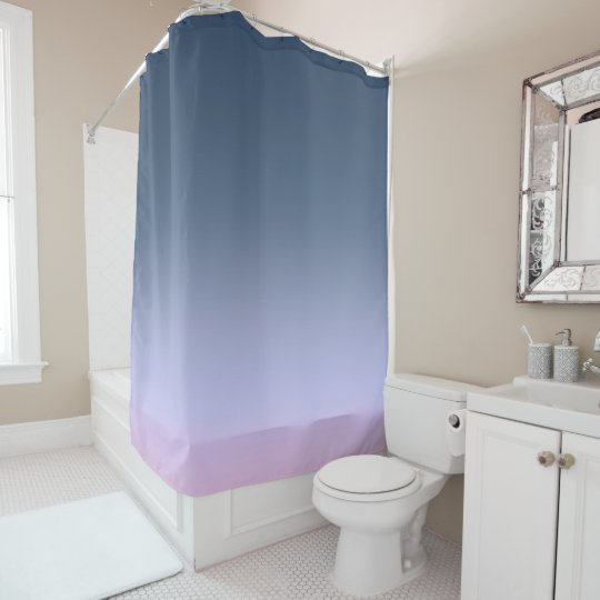 Blue-pink Ombre . Shower Curtain