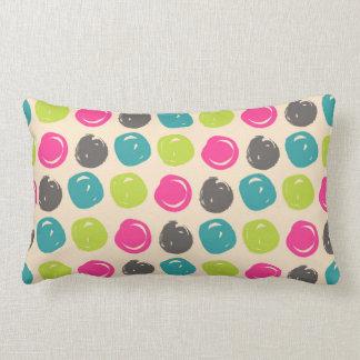 Blue & Pink Paint Swirls Pattern Lumbar Pillow