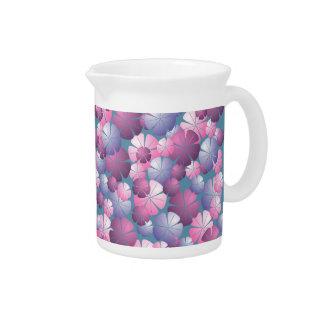 Blue Pink Purple Mauve Flowers Pitcher