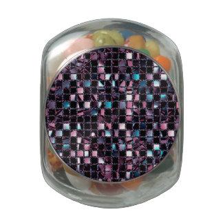 Blue Pink Sequin Effect Glass Jars