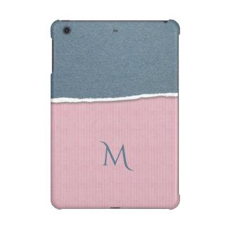 Blue & Pink Texture custom monogram device cases