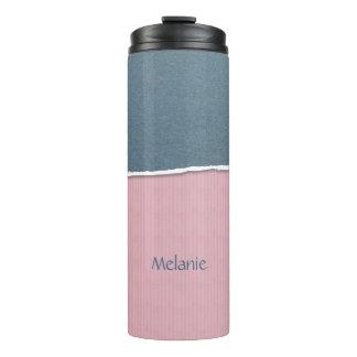 Blue & Pink Texture custom name tumbler