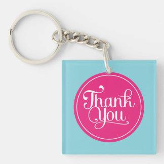 Blue Pink Thank You Acrylic Keychain