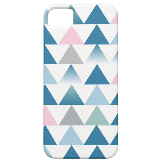 Blue pink triangles case for the iPhone 5