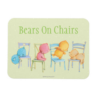 Blue, Pink, Yellow, and Brown Bears Play Magnet