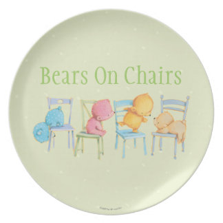 Blue, Pink, Yellow, and Brown Bears Play Plates