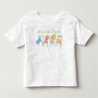 Blue, Pink, Yellow, and Brown Bears Play Toddler T-Shirt