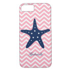 Blue & Pink Zigzags Pattern Starfish iPhone 8/7 Case