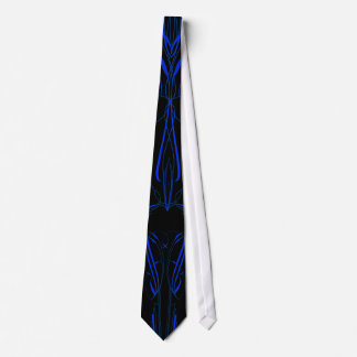 Blue Pinstripe Modern Art Tie