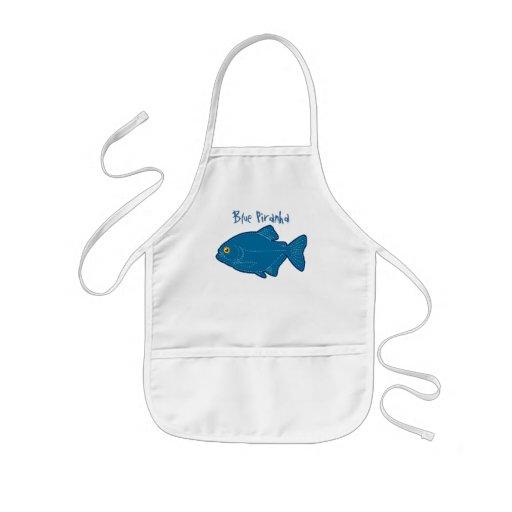 Blue Piranha Apron