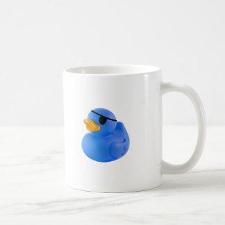 Blue pirate rubber duck mug