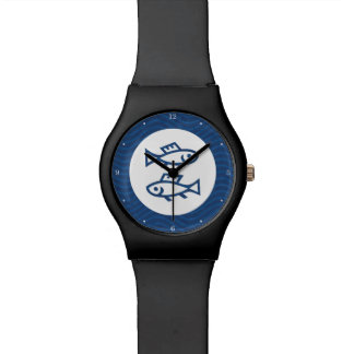 Blue Pisces Zodiac Wristwatch