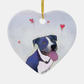 Blue Pit Good Dog Christmas Ornament