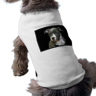Blue Pitbull Puppy Dog Shirt
