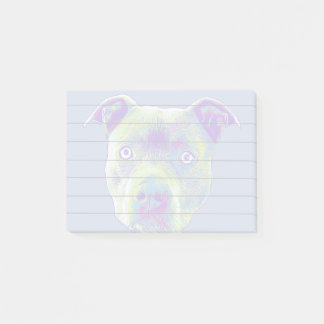Blue Pitbull puppy Post it notes