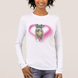 Blue pitbull puppy t-shirt