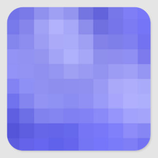 Blue Pixel Sticker