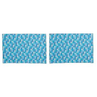 Blue Pixelated | Gamer | Blue Pixels Pillowcase