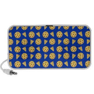 Blue pizza pattern laptop speakers