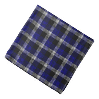 Blue Plaid Bandana