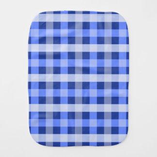 Blue Plaid Burp Cloth