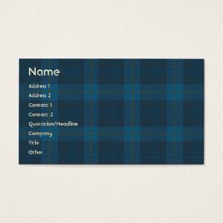 Blue Plaid - Business Business Card