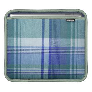 Blue Plaid iPad Sleeve