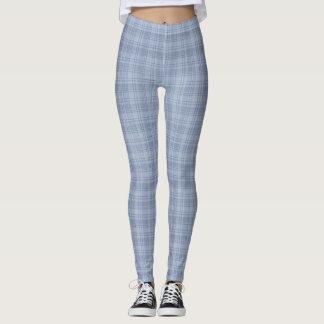 Blue Plaid Leggings