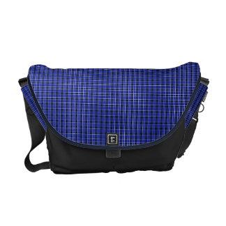 Blue Plaid Messenger Bag