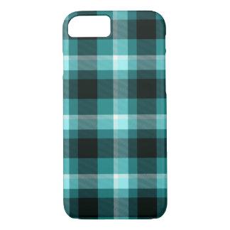 Blue Plaid Pattern iPhone 8/7 Case