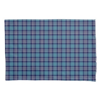 Blue Plaid Scottish St Andrews District Tartan Pillowcase