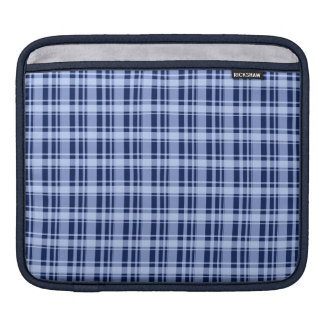 Blue Plaid Sleeves For iPads