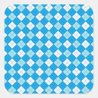 Blue Plaid Sticker