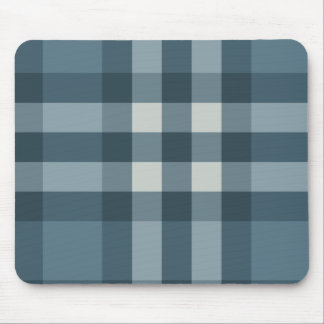 Blue Plaid Striped Design Mouse Mat