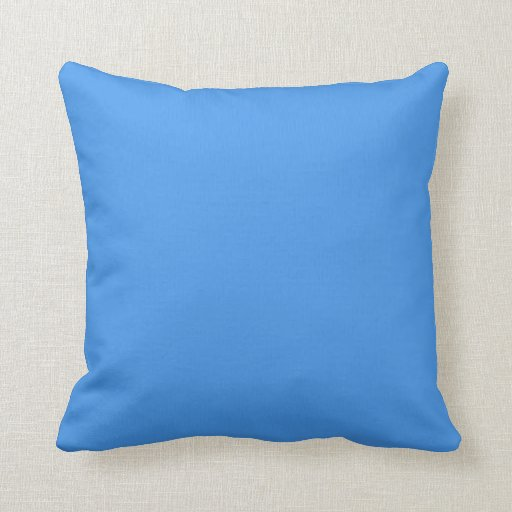 Blue plain beautiful luxury cushion pillow