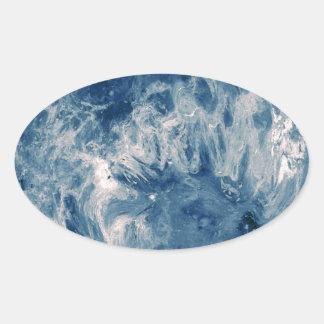 Blue Planet - Blue Moon Oval Sticker