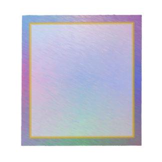 Blue Plasma Rain Small Note Pad