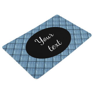Blue plastic photo 0205 floor mat