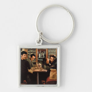 Blue Plate Key Ring