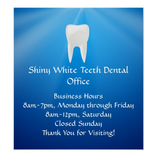 Blue Plunge Dental or Dentist Office Poster